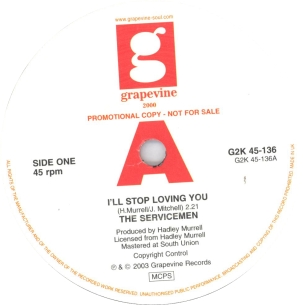 Servicemen - I'll Stop Loving You - Grapevine Promo